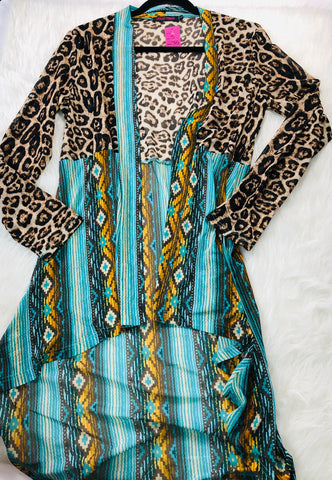leopard and aztec duster