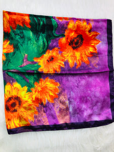 purple sunflower wild rag