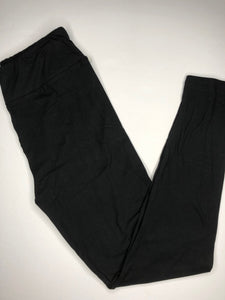 one size soft black leggings