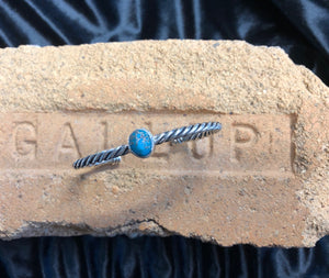 turquoise/sterling silver bracelet