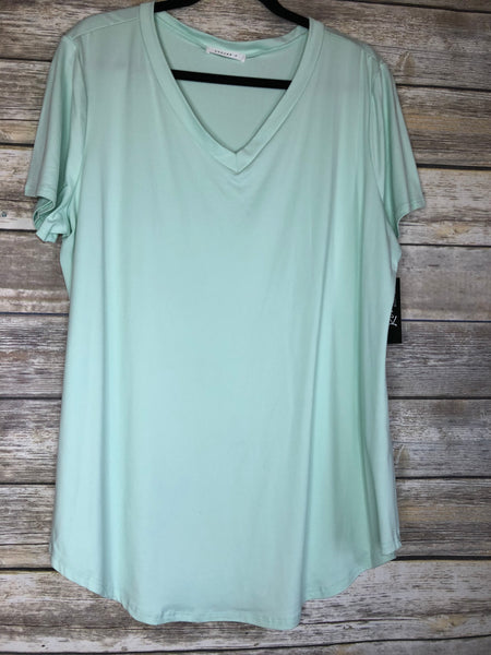 buttery soft v neck tee