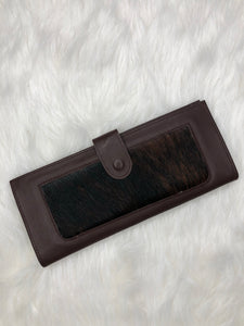 Kurtmen wallet-dark brindle cowhide