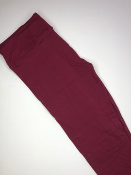 burgundy buttery soft one size leggings