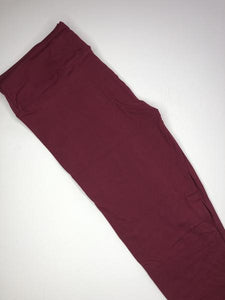 burgundy buttery soft tall or curvy leggings