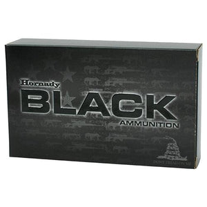 223 Remington - Black Ammunition, 75 Grains, Hollow Point Boat Tail Match, Per 20 - TPG Outfitters