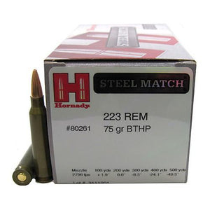 223 Remington - 75 Gr, BTHP Steel Match-50 - TPG Outfitters