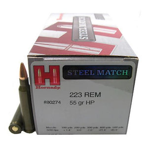 223 Remington - 55 Gr, HP Steel Match-50 - TPG Outfitters