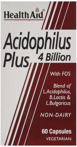 HealthAid Acidophilus Plus 4 Billion - 60 Vegicaps