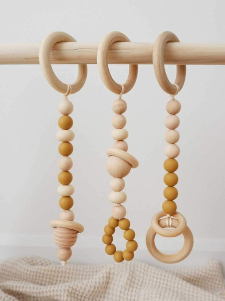 Wooden Activity Gym- Caramel