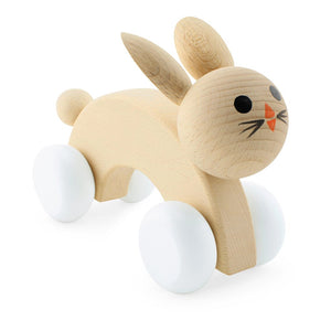 Wooden Push Along Rabbit - Lola