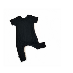 T-shirt Romper - Black