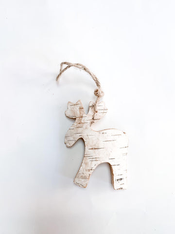 Birch moose ornament
