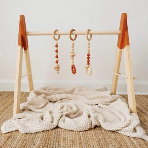 Wooden Activity Gym- Rust