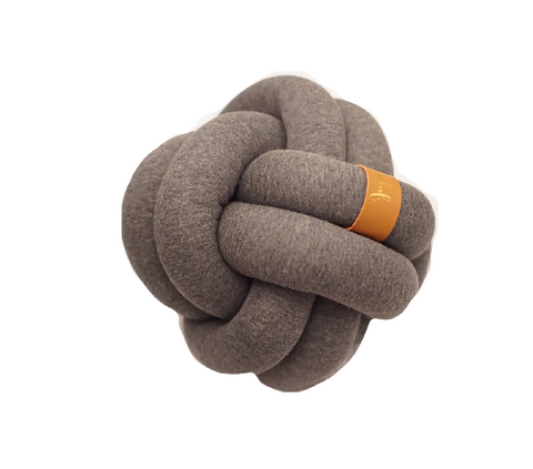 Knot Pillow- Medium Dark Grey