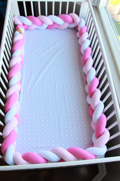 Braided Crib Bumper - Mixed Colours