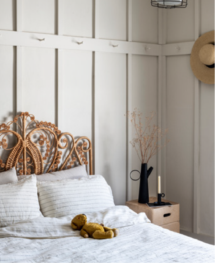 Always Neutral 0559 is a timless colour perfect for bedrooms. Gain more ideas from Inspiring Colour 2021 by Harris Paints in the Caribbean.