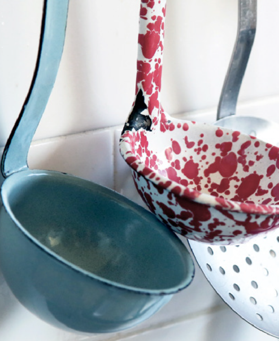 Colourful spoons can add an subtle accent to your space. Inspiring Colour magazine by Harris Paints in the Caribbean has lots of tips for your space.