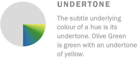 The subtle underlying colour of a hue is its undertone. Learn more about colour theory at Harris Paints.