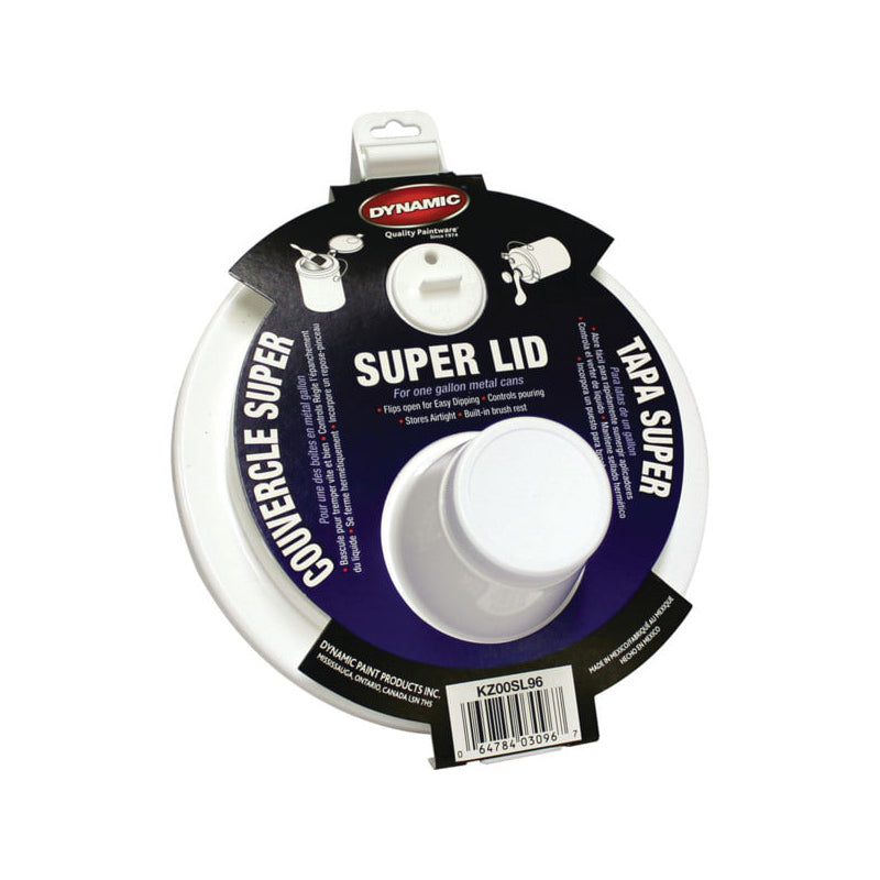 Dynamic Super Lid 2 piece Lid with Spout, available at Harris Paints and BH Paints in the Caribbean.