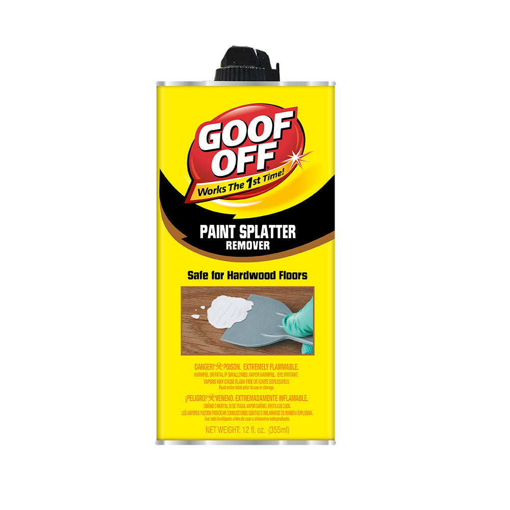 Goof Off Paint/Stain Remover, available at Harris Paints and BH Paints in the Caribbean.