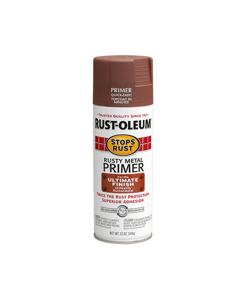 Rustoleum Stops Rust Rusty Metal Primer, available at Harris Paints in the Caribbean.
