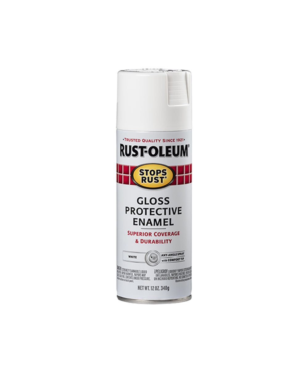Rust-Oleum Stops Rust Gloss Protective Enamel, available at Harris Paints in the Caribbean.