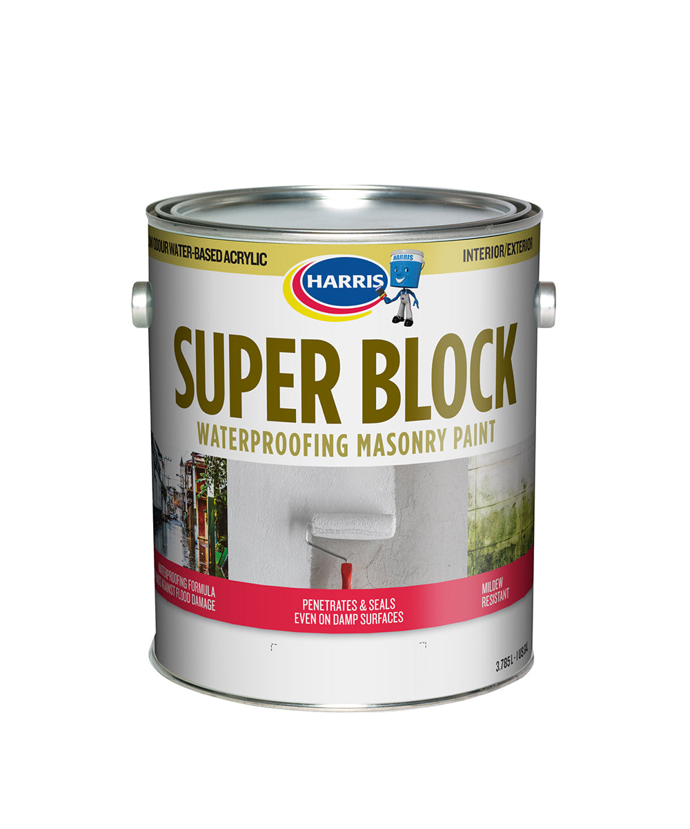 Harris Paints Super Block Primer, available at Harris Paints in the Caribbean.