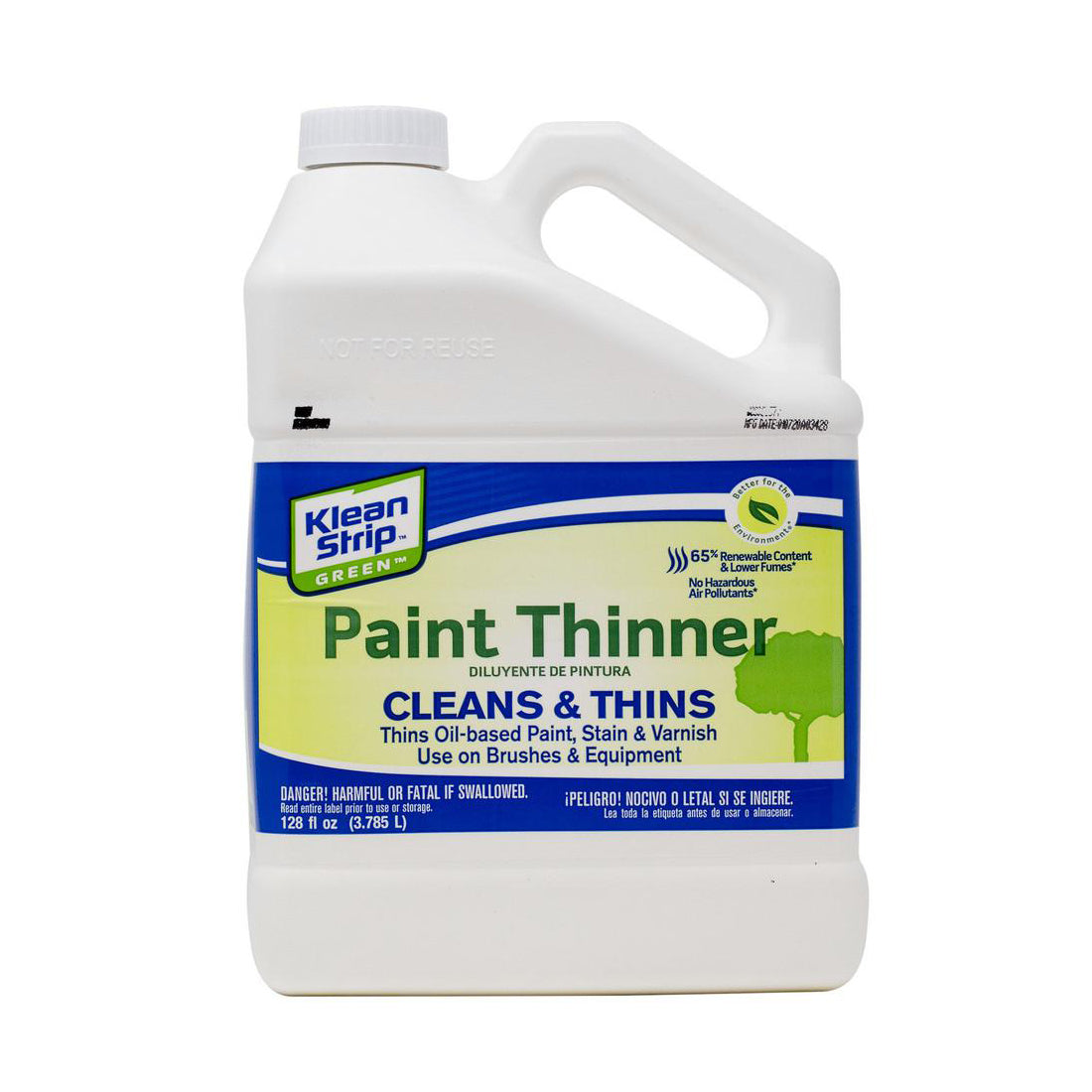 Kleen Strip Green Paint Thinner, available at Harris Paints and BH Paints in the Caribbean.