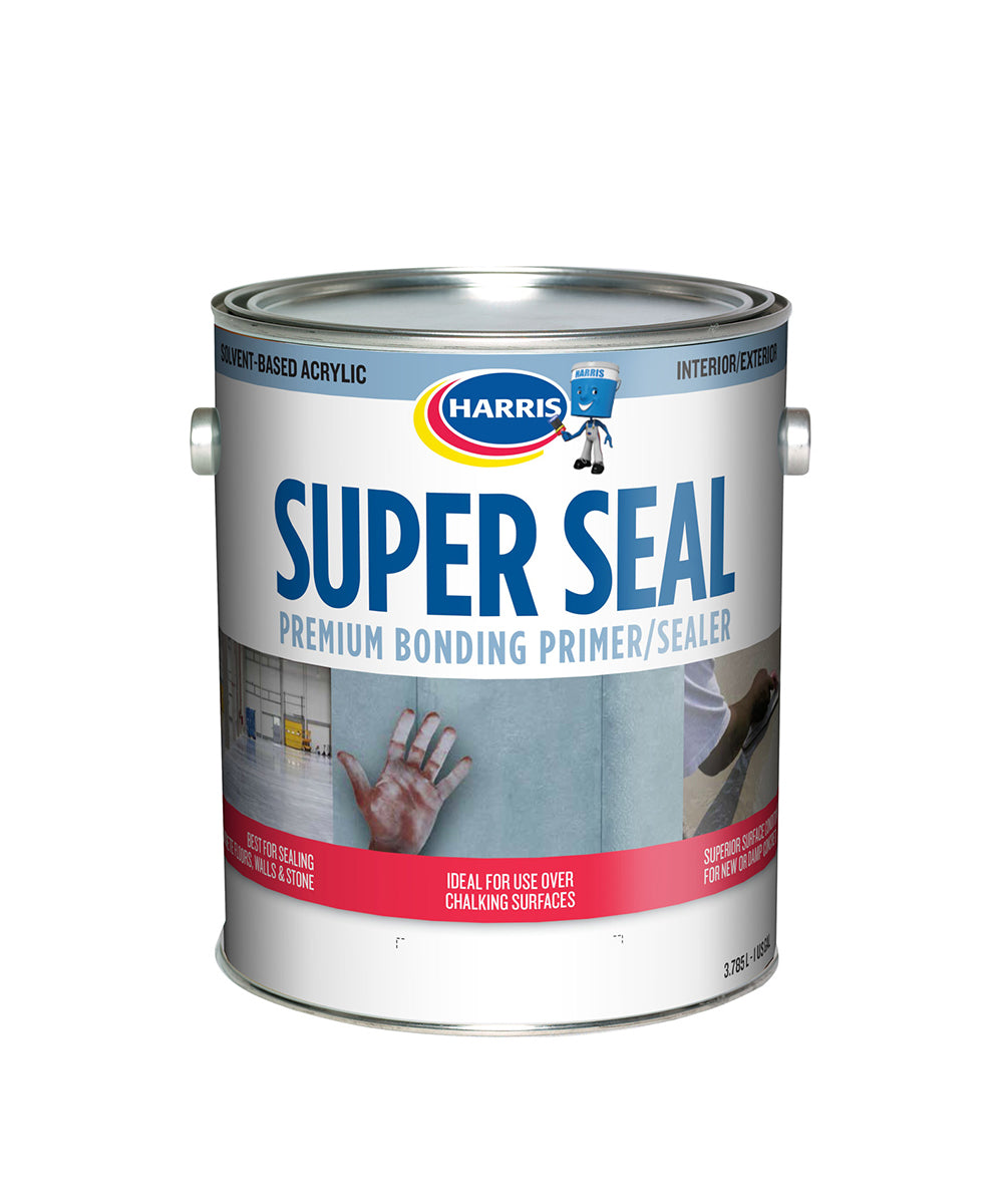 Harris Paints Super Seal Premium Bonding Primer and Sealer, available at Harris Paints in the Caribbean.