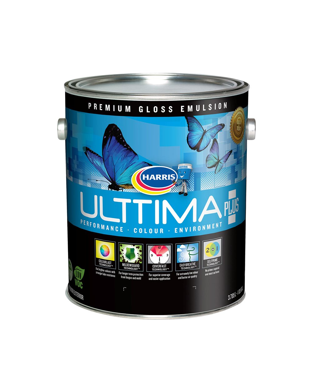Harris Ulttima Harris Ulttima Plus Gloss Interior & Exterior Emulsion gallon.