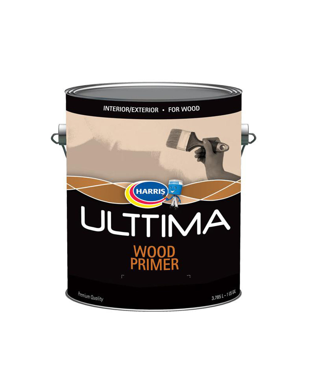 Harris Ulttima Wood Primer, available at Harris Paints in the Caribbean.