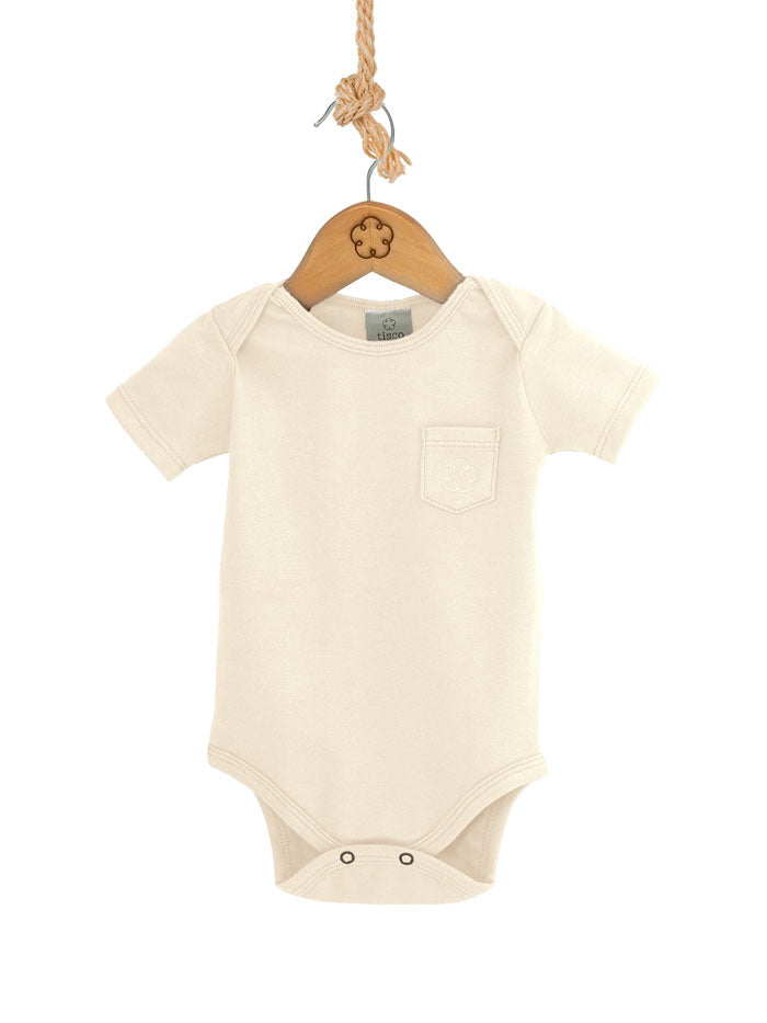 Body 24-7 manga curta [Organics] - Branco Off - babytisco
