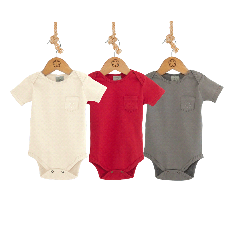 Kit CLASSIC COLORS - Body 24-7 manga curta [Organics] - babytisco