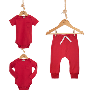 Kit DOUBLE: 02 Bodies 24-7 manga curta e longa + 01 Calça Comfy [Organics] - babytisco