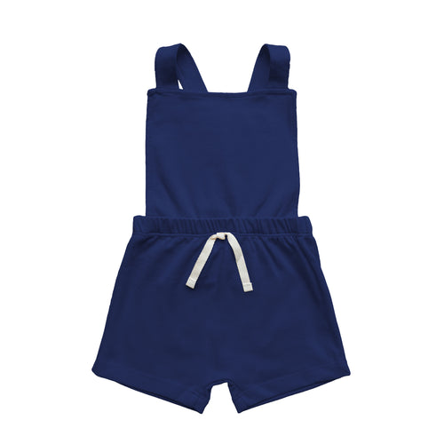 Jardineira Cross [Basics] - Azul Navy - babytisco