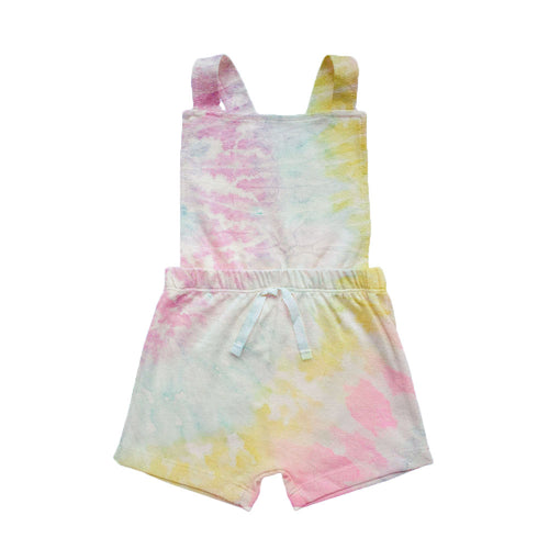 Tie Dye Collection - Jardineira Cross short - Cotton Candy