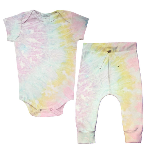 Kit Tie Dye Cotton Candy [Organics] - Body 24-7 manga curta + calça Comfy