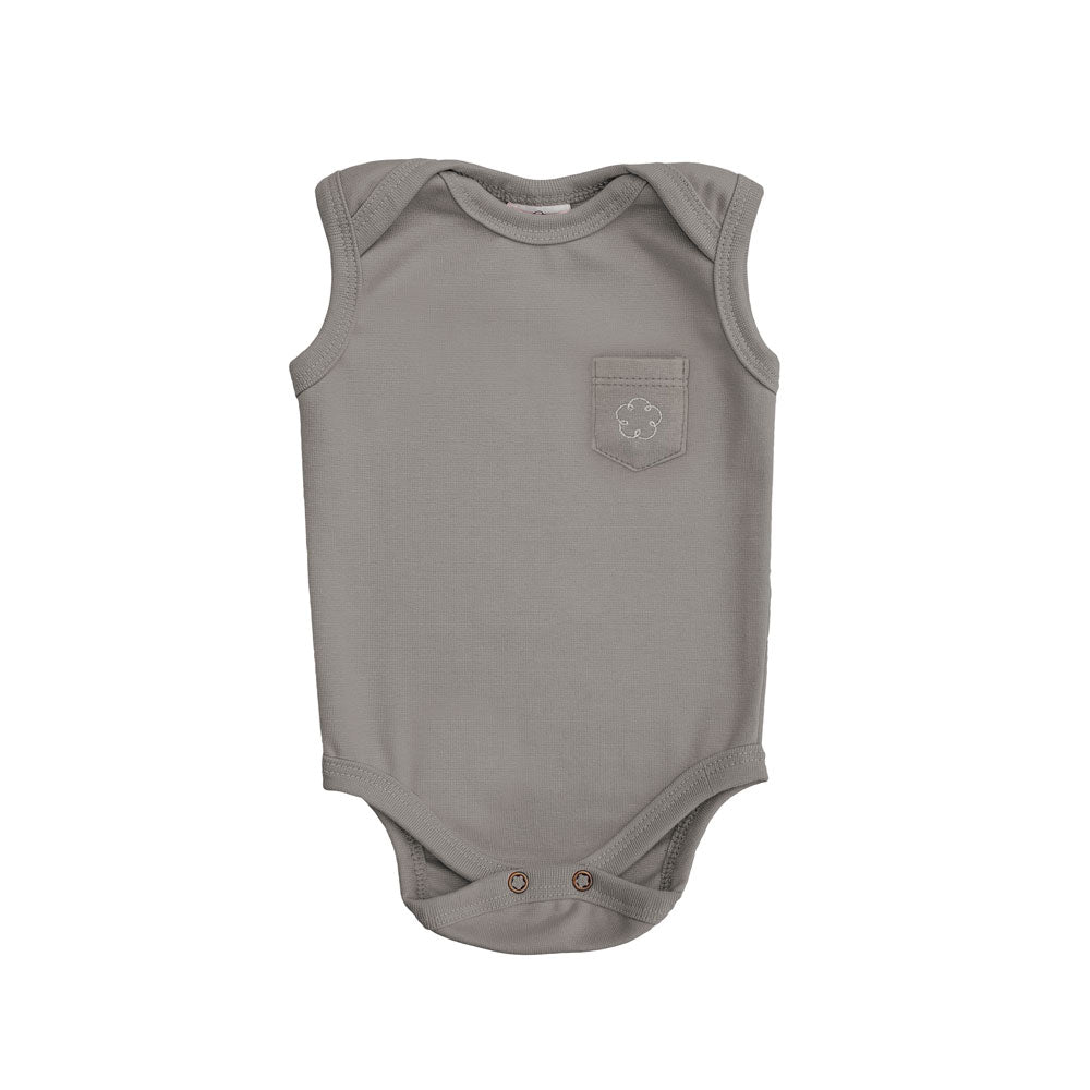 Body 24-7 regata [Organics] - Cinza Urban - babytisco