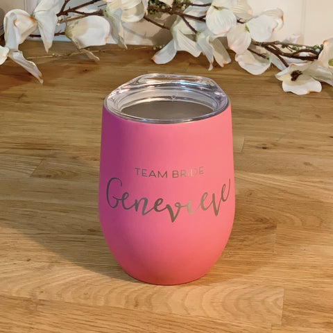 Team Bride Wine Tumbler