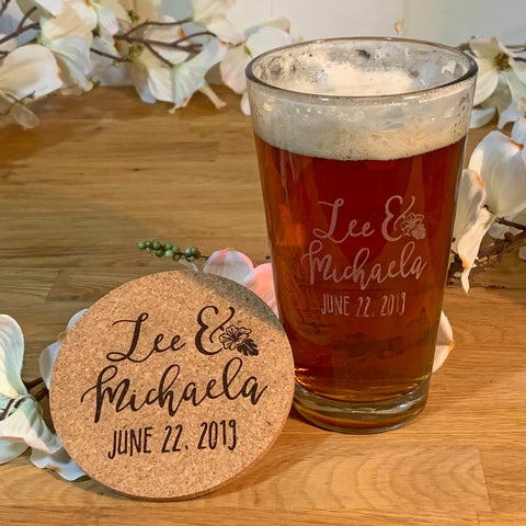 Engraved Pint + Coaster Set