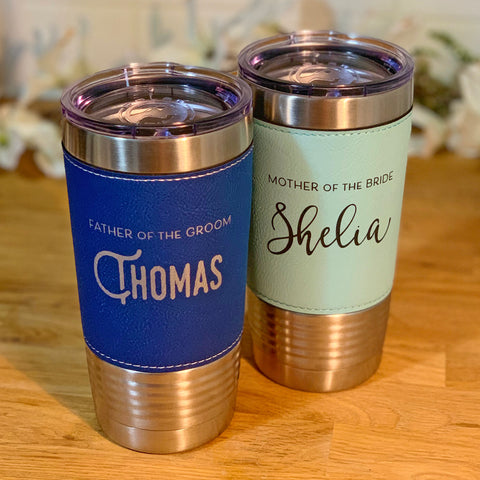 Parent of the Bride/Groom Leather Wrapped Tumbler