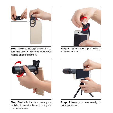 APEXEL 18X Telescope Zoom Mobile Phone Lens For IPhone/Samsung Smartphones