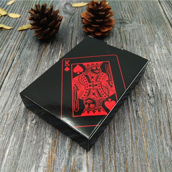 Black Diamond Black Plastic Playing Cards 54pcs Waterproof