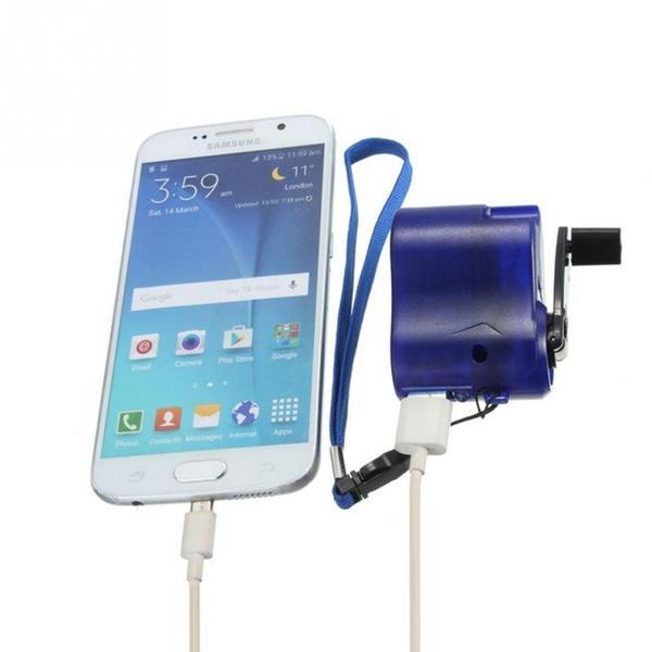 Hand Crank Cell Phone USB Emergency Charger
