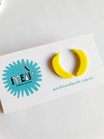 Banana Statement Studs