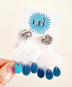 Cloud dangle Earrings! - Meak Handmade