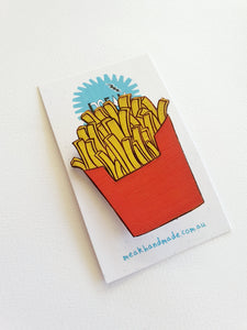 French Fries Brooch - Meak Handmade