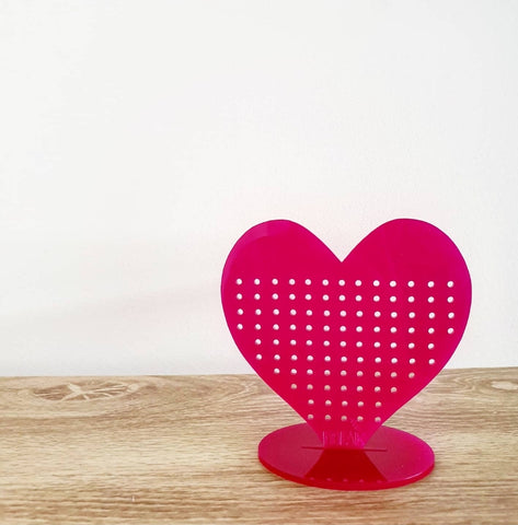 Love heart earring storage stand