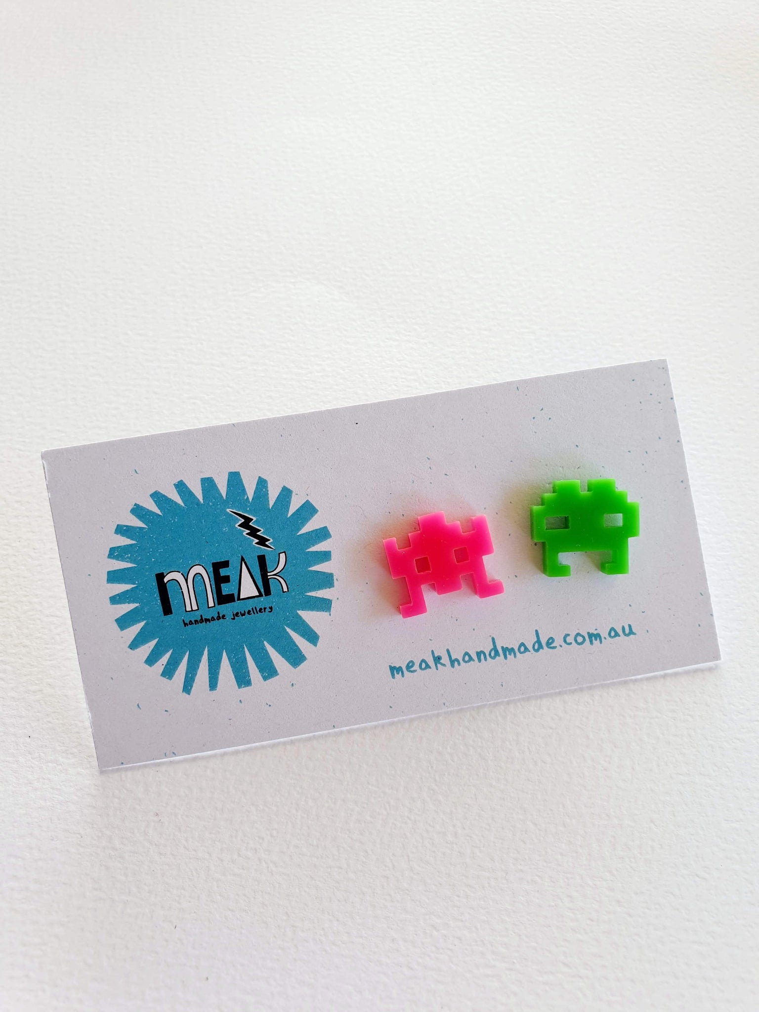 Retro Space Invaders Studs - Meak Handmade