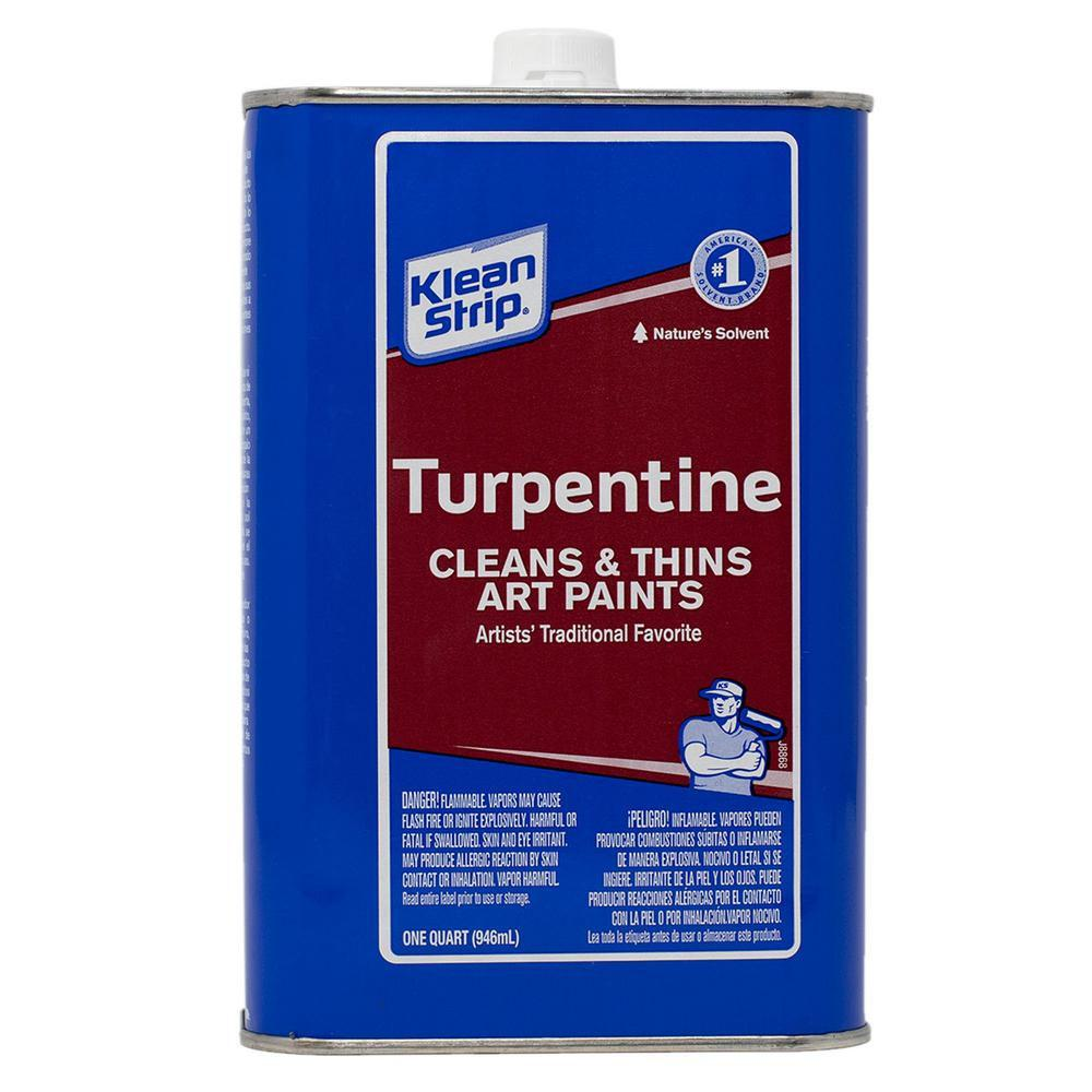 Klean Strip turpentine, available at Wallauer's in NY.